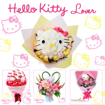 hello kitty buket, hello kitty bouquet, bunga hello kitty, florist jakarta
