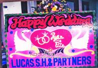 Bunga Papan Makassar Wedding 2