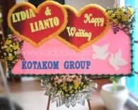 Bunga Papan Balikpapan Wedding