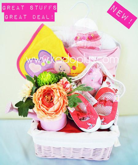 Hadiah kelahiran baby clothing flower basket kadoplus parcel bayi baby clothing flower basket by toko bunga gift florist jakarta negle Image collections