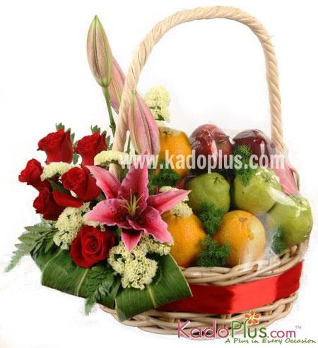 Parsel Buah Bunga Fruity Flower Basket 4 Toko Bunga Kadoplus