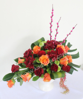 rangkaian bunga imlek, rangkaian imlek, chinese new year flower arrangement