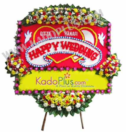 bunga papan wedding 3n kadoplus