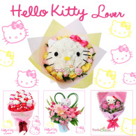 hello kitty buket, hello kitty bouquet, bunga hello kitty, florist jakarta