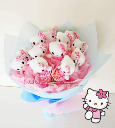 bunga online, toko bunga jakarta, jakarta florist, hello kitty  bouquet
