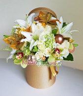 christmas flower arrangement, bunga natal, rangkaian bunga natal, christmas flower