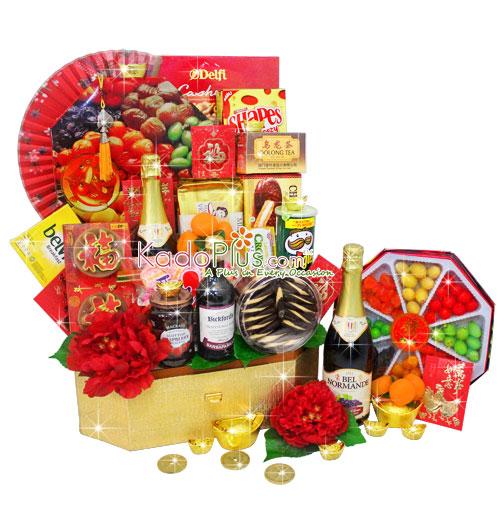 Chinese New Year Hamper Golden Celebration Toko Bunga Online