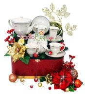 parcel natal, parcel natal jakarta, toko parcel, toko parcel natal, christmas hamper, christmas gift basket, christmas hamper jakarta indonesia, Parcel Natal Keramik Tea Set