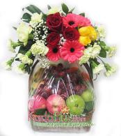 rangkaian buah & bunga, rangkaian buah, parsel buah, toko bunga jakarta, florist jakarta