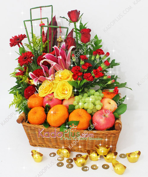 Chinese New Year Fruit Flower Toko Bunga Online Florist