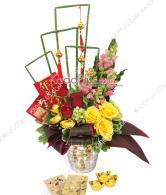rangkaian imlek, chinese new year flower arrangment, florist jakarta