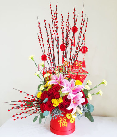 florist jakarta, toko bunga jakarta, bunga imlek, bunga imlek jakarta, chinese new year flower arrangement